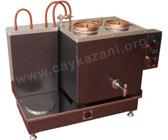 İkili Statik Elektrikli Çay Kazanı